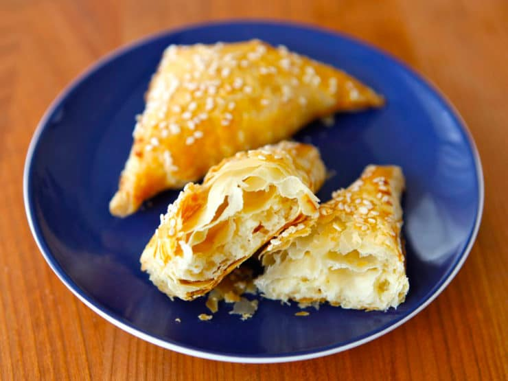Potato Cheese Bourekas - Flaky Stuffed Pastries