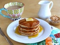 What Rosa Parks Ate: Peanut Butter Pancakes. Learn to make Rosa Parks' Featherlite Peanut Butter Pancakes with this vintage recipe and step-by-step photos.