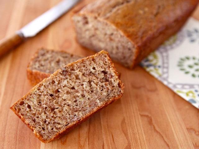 Greek Yogurt Banana Nut Bread - Moist and Lowfat Recipe