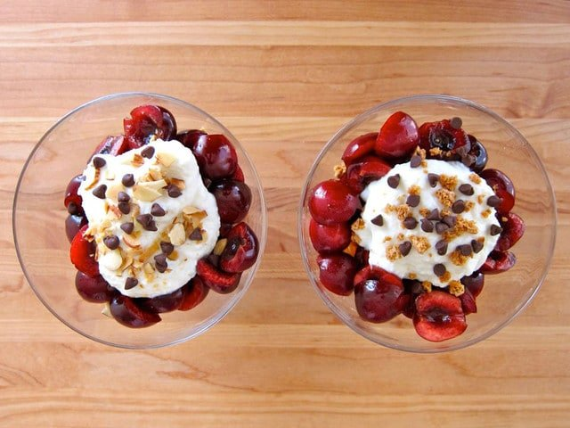 Smashed Cherries, Amaretti and Ricotta- Recipe from Ripe