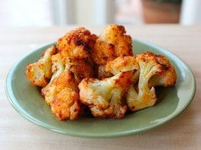 Smoky Roasted Cauliflower on a plate.