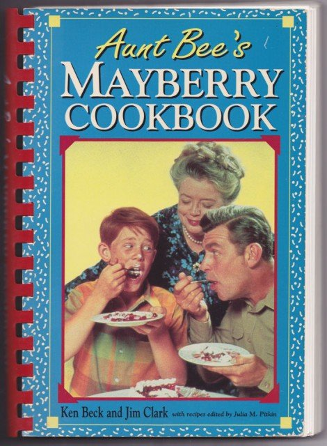 "Andy's Angel Food Cake: A Tribute to Andy Griffith - A vintage recipe from ""Aunt Bee's Mayberry Cookbook"" - a simple chocolate-filled angel food cake with nuts and chocolate shavings."