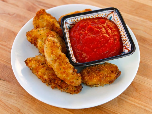 Italian Schnitzel Bites- Crispy Marinated Panko Chicken Bites