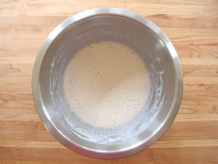 Chicken batter in a bowl.