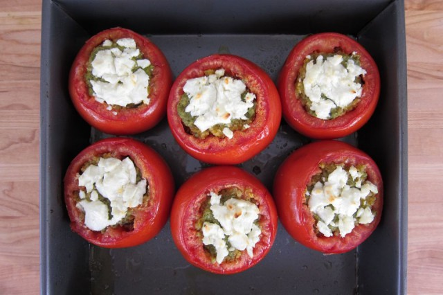 Quinoa Stuffed Tomatoes with Pesto and Goat Cheese 18