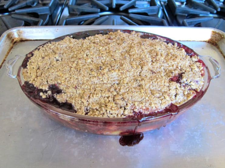 Peach and Blueberry Crisp 5