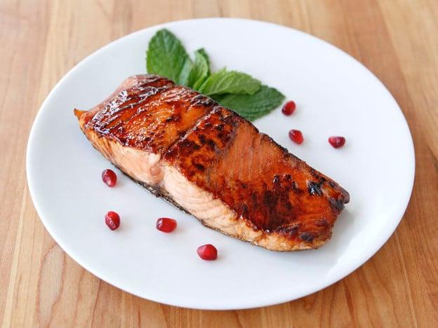 Pomegranate Glazed Salmon