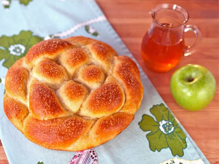 Apple Honey Challah - Includes Delicious Tested Recipe and Free Braiding Instructions for a Perfect Challah Every Time. Kosher, Pareve, High Holidays.