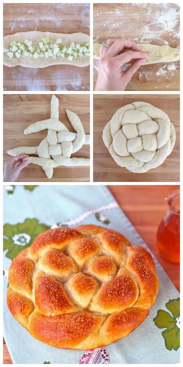 Apple Honey Challah - Recipe for Rosh Hashanah Challah