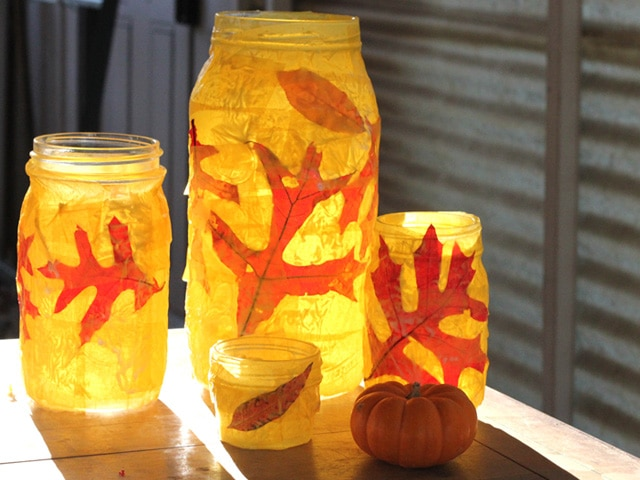 Autumn Votives for Sukkot or Thanksgiving