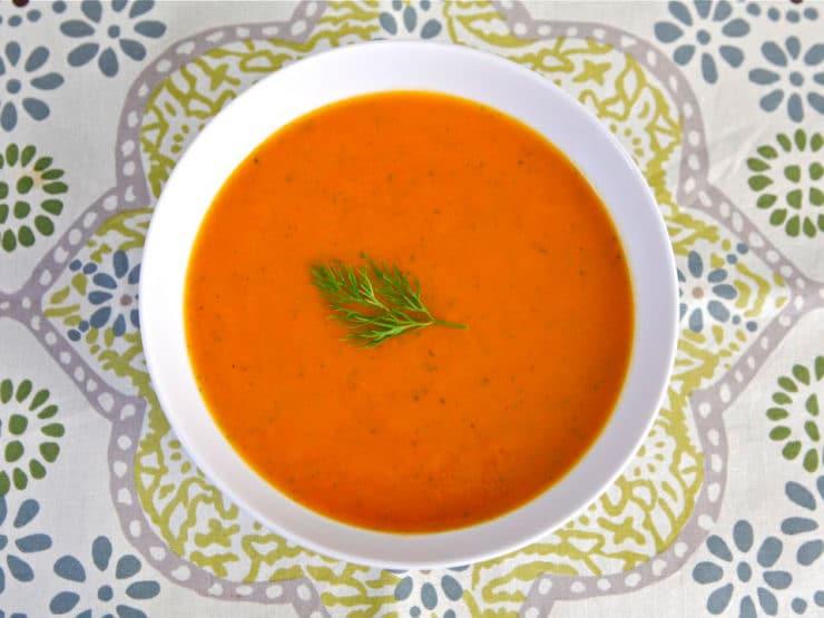 Norene Gilletz's Carrot & Sweet Potato Soup - Healthy Recipe