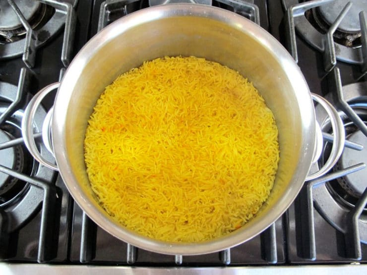 Claudia Roden's Riz au Saffran - Saffron Rice with Raisins & Almonds