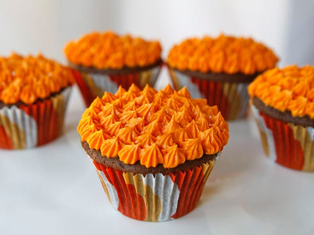 Halloween Devil's Food Cupcakes with Buttercream Frosting