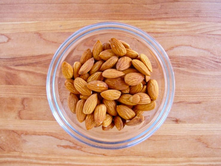How to Blanch Almonds - Learn to easily skin a batch of almonds in just minutes with a pot of boiling water.