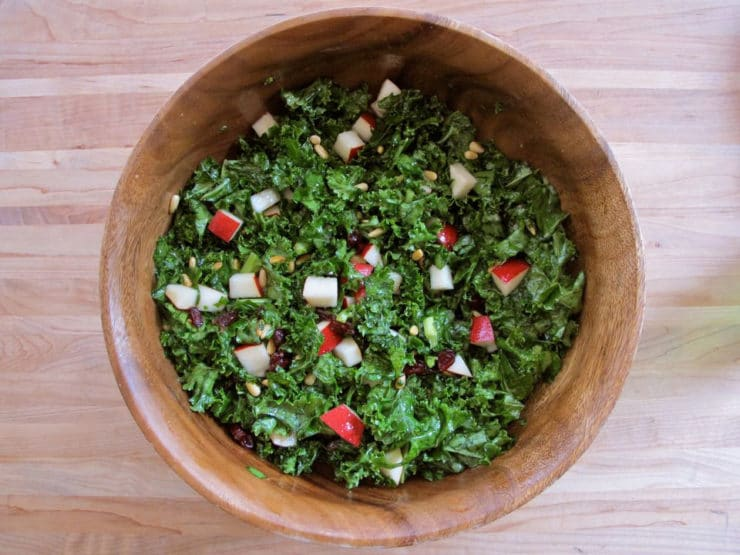 Kale, Pear and Cranberry Salad 4