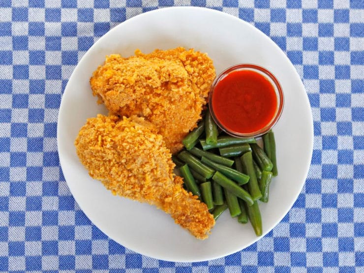 Oven Fried Crispy Cornflake Chicken - Healthy Unfried Chicken Recipe