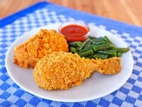 Oven Fried Crispy Cornflake Chicken