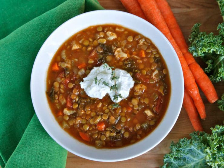 Slow Cooker Lentil Cauliflower Stew -  From The Weelicious Cookbook by Catherine McCord. Vegan, Gluten Free, Pareve.
