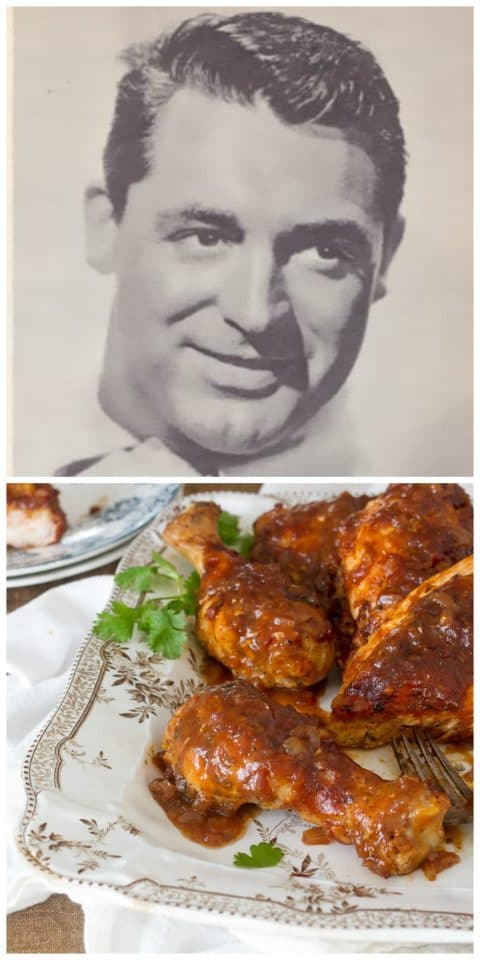 Cary Grant's Oven-Barbecued Chicken - Historical Recipe on ToriAvey.com