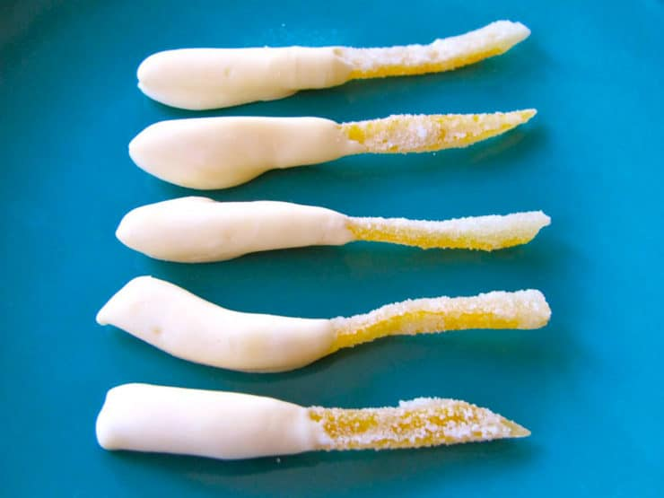 White Chocolate Candied Lemon Peels