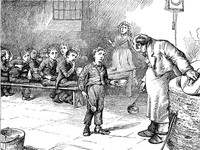 Oliver Twist by James Mahoney (1810-1879). Wikimedia Commons