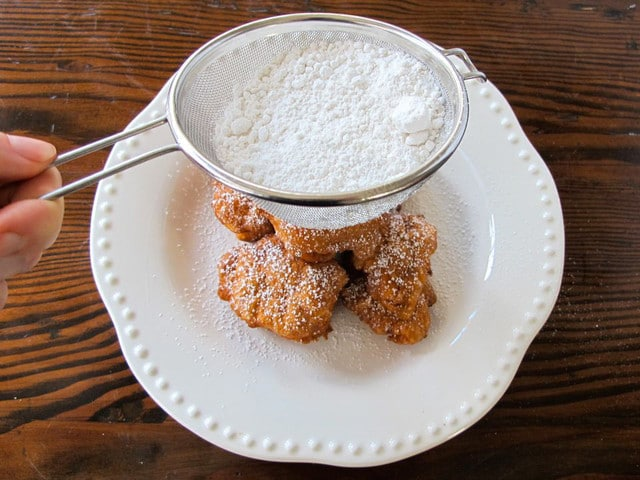 Hanukkah Fritters with Warm Chocolate Sauce 7