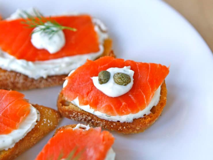 Party food recipes smoked salmon