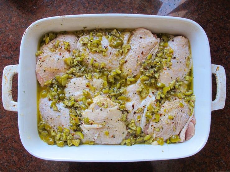 Mediterranean Olive Chicken - Healthy Roasted Marinated Chicken Recipe on ToriAvey.com