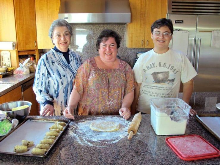 Erika's Unorthodox Rugelach - A family recipe from Erika Kerekes of In Erika's Kitchen. A unique twist on rugelach. Pareve, dairy free dough. Cinnamon raisin filling. Kosher.