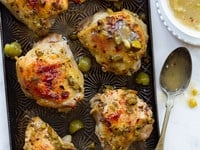 Mediterranean Olive Chicken - Healthy Roasted Marinated Chicken Recipe on ToriAvey.com