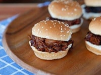 Slow Cooker Barbecue Brisket Sliders