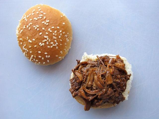 Slow Cooker Barbecue Brisket Sliders - BBQ Crock Pot Brisket Burgers