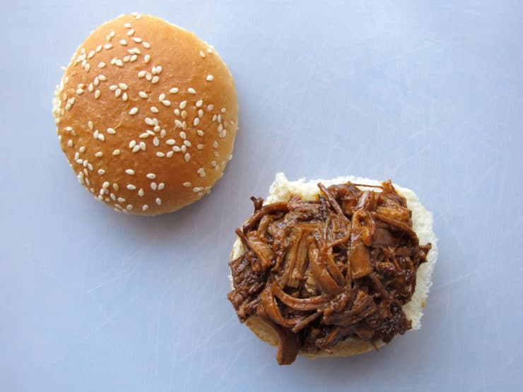 Slow Cooker Barbecue Brisket Sliders 9