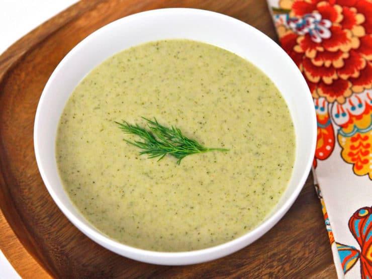 Creamy Broccoli Tahini Soup