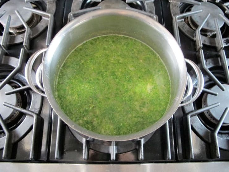 Creamy Broccoli Tahini Soup - Dairy Free Vegan Soup