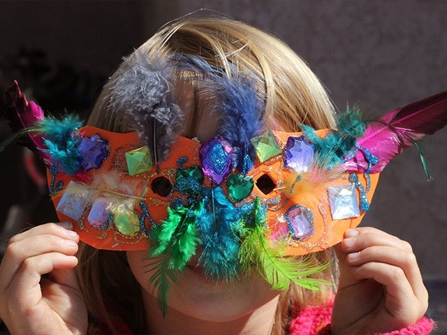 Make a Mask for Purim - Purim craft for kids from Brenda Ponnay. Learn to make a homemade mask for the Jewish Purim holiday using simple supplies from your local craft store. Easy and affordable.