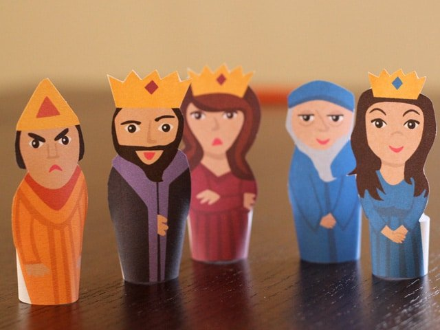purim finger puppets jewish holiday craft for kids