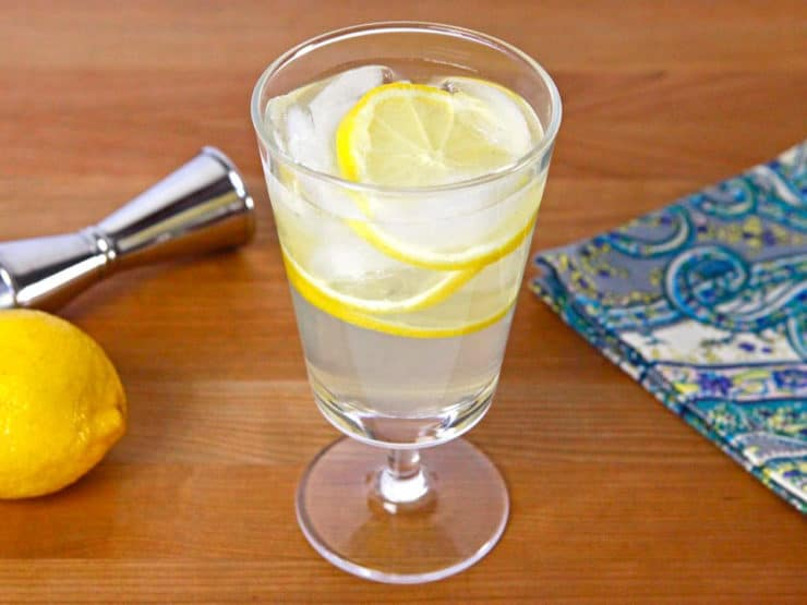 Vanilla Lemon Drop Cocktail - Use homemade infused vanilla vodka in this sweet and creamy-flavored cocktail, similar to a lemon drop with a sweet vanilla essence. Kosher.