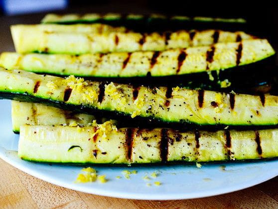 Grilled Zucchini with Yummy Lemon Salt by Ree
