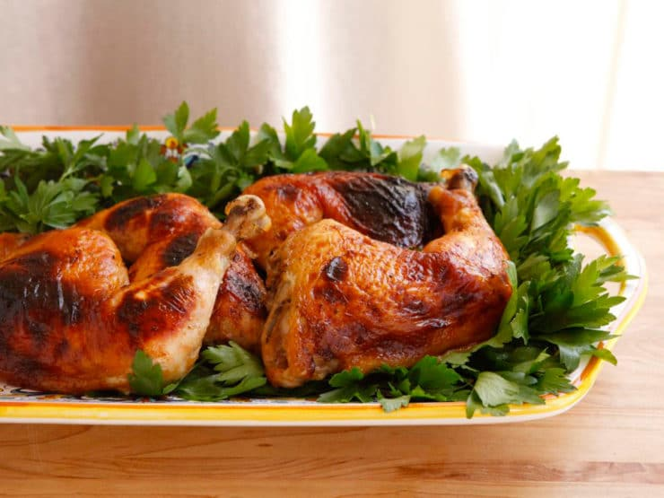 Honey Garlic Chicken Marinated Roast Chicken Recipe
