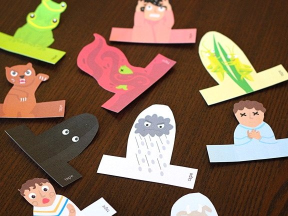 Passover Ten Plagues Finger Puppets 2