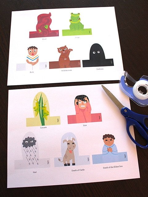 Passover Ten Plagues Finger Puppets Supplies