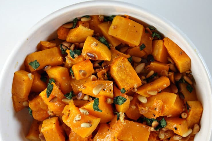 Pasta With Butternut Squash, Sage, And Pine Nuts Recipes — Dishmaps