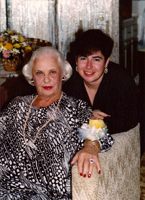 Photograph of Rose Sharron and Erika Kerekes.
