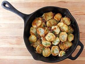 Schmaltz Potatoes Lyonnaise