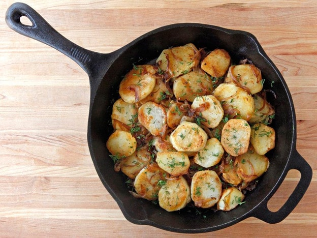 Schmaltz Potatoes Lyonnaise