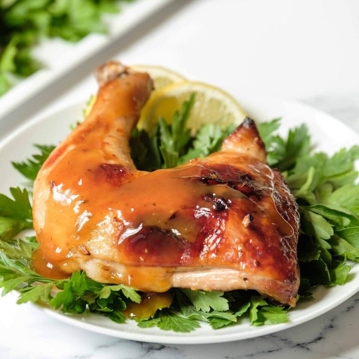Honey Garlic Chicken Easy Roasted Chicken With Honey Garlic Sauce