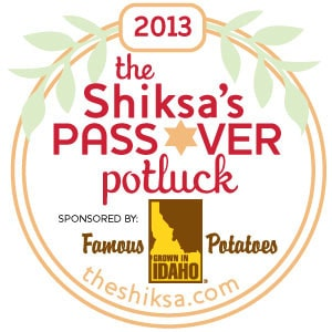 The Shiksa's Passover Potluck Badge 2013 Large