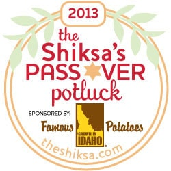 The Shiksa's Passover Potluck Badge 2013 Small