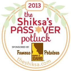 The Shiksa's Passover Potluck Badge 2013 Small